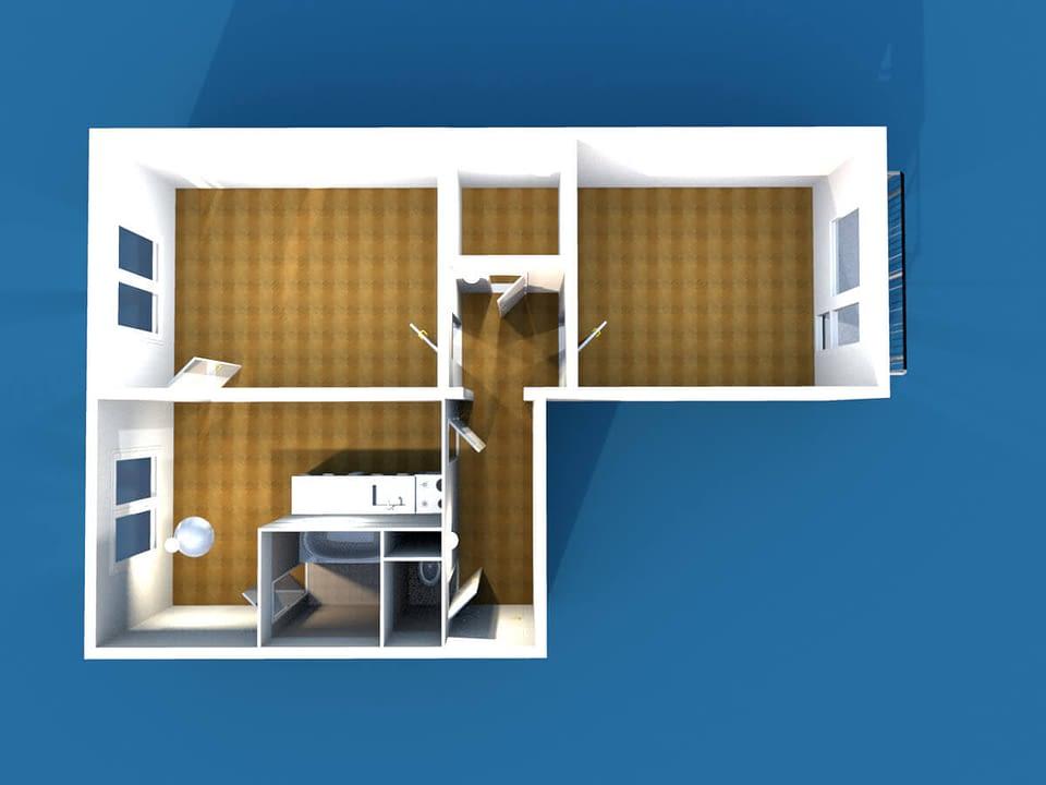 panelový byt 2+1 s balkonem
