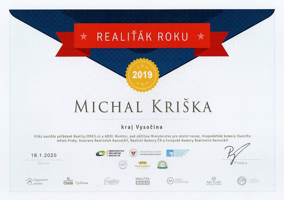 Realiťák roku 2019 pro kraj Vysočina