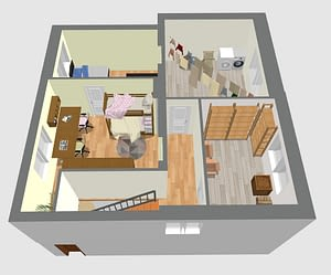 rodinný dům - schéma patro